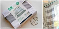 """Cut an inexpensive duvet cover in half to make curtains — the fabric will be doubled, creating its own """"lining."""""""