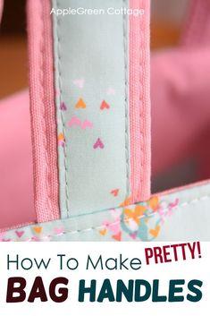 Make beautiful easy bag handles and straps with this sewing tutorial