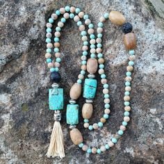 gemstone mala essential oil diffuser necklace by AromaGemJewelry