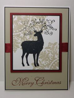 Love the medallion stamp use and the bling on the antlers!
