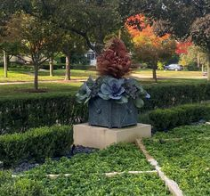 Dirt Simple | Gardening and Landscape Blog by Deborah Silver Outdoor Christmas Planters, Ornamental Cabbage, Outside Plants, Fall Containers, Faux Grass, Spring Flowering Bulbs, Fall Plants, Large Plants, Container Plants