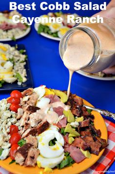 #Best Cobb Salad with homemade Cayenne Ranch Dressing #salad #cobb salad