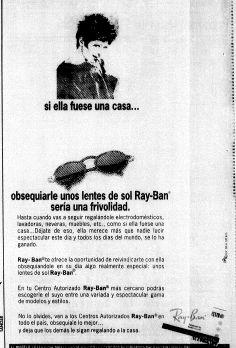 Publicidad del Día de las Madres. Publicado el 8 de mayo de 1994.