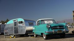 The Return of the Vintage Trailer 1955 Nash tows a matching trailer
