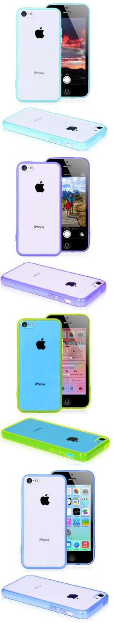 Transparent Hard Case with TPU Protective Cover Case for iPhone 5C