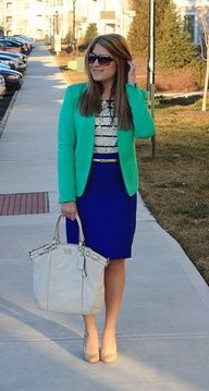 cobalt, green blazer, stripes, sequins, coach lindsey
