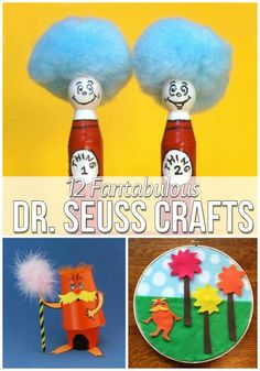 12 Fantabulous Dr. Seuss Crafts. Click the picture to go STRAIGHT to the page! Great kiddo party for going back to school!