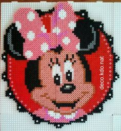 Minnie Mouse portrait hama perler beads by DECO.KDO.NAT