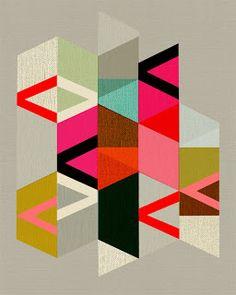 @Shannon Bellanca Stott Sosa - Good quilting inspiration, no? { Happy Habitat }: Inaluxe Geometric Print