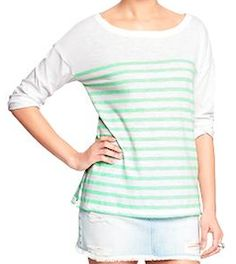 green and white stripped shirt http://rstyle.me/~4ar7S