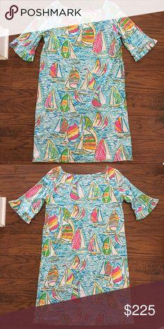 Lilly Pulitzer You Gotta Regatta Somerset Dress Excellent Condition✨ Machine washable / Tumble Dry 100% Cotton Machine Washable Only wore once Lilly Pulitzer Dresses