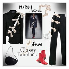 Pantsuit Nation: Bows! by mcheffer on Polyvore featuring polyvore fashion style Jacquemus clothing bows