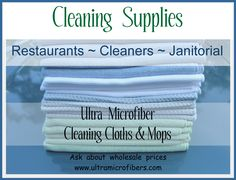 Supplier of microfiber cloths mops for commercial cleaning, restaurants, cleaning companies. wholesale prices upon request. http://www.ultramicrofibers.com/distributor