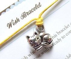 CATWish braceletSilver charm braceletMake a by LaBottegaDiViviana, €2.30