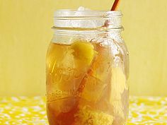 Whiskey Spiked Peach Iced Tea