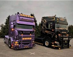 Customised Trucks, Custom Trucks, Custom Cars, Show Trucks, Big Trucks, Ferrari, Road Train, Drag Racing, Car Logos