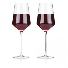 Viski Raye Crystal Bordeaux Wine Glasses - 16 oz - Set of 2