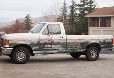 Who says you can't wrap an old truck? Come visit Signaturedsign.com. . . . photography by Lynn Koellermeier, Kgrafix