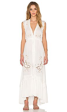 Spell & The Gypsy Collective Isla Bonita Duster Dress in White