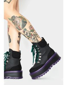 Club Exx Black Glitter Traitor Boots With Holographic Hearts | Dolls Kill Black Platform Boots, Platform Sneakers, Black Boots, Wedge Boots, Bootie Boots, Shoe Boots, Buckle Boots, Combat Boots, Thigh High Boots