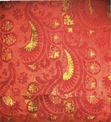 Venetian, 15th C. Pile-on-pile velvet, brocaded with gold (Poli, precise citation lost)