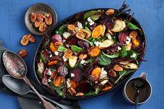 Roasted winter vegetable salad