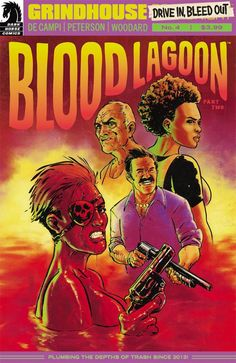 """Blood Lagoon Part 2 is a Grindhouse book through and through. All of part 1's borderline tedious build up pays off in spades, resulting in one of the most uplifting and fun Grindhouse tale to date. Seeing Deputy Garcia on the page again is an absolute treat, that offers a tantalizing taste of grindhouse sequels. Let's hope De Campi has even more up her sleeve as the series continues."" -Bloody Disgusting on Grindhouse: Drive In, Bleed Out #4"