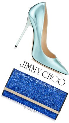 Jimmy Choo ~ Perfect Pairings 2015 ~ Anouk Pointy Toe Pumps & Milla Clutch Bag