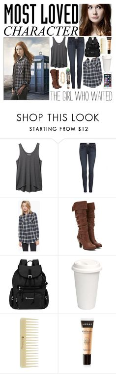 """""""• Amy Pond • Outfit #108"""" by chloe-is-batman ❤ liked on Polyvore featuring Rebecca Minkoff, Paige Denim, Alygne, Forever 21, Sherpani, LORAC, Blue Nile and tvstarstyle"""