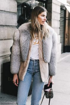 A Cool Way To Wear A Faux fur Coat