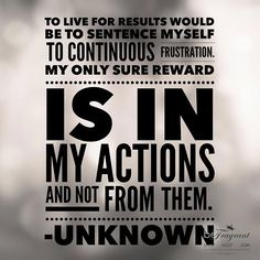Rewards from actions....