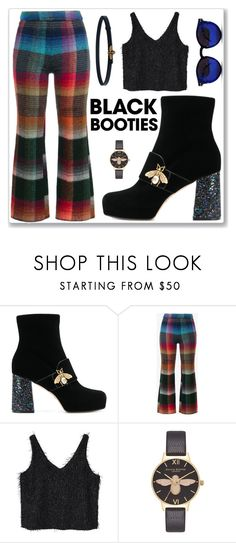 """""""the bee glitter booties"""" by harryvimes ❤ liked on Polyvore featuring Gucci, Missoni, MANGO, Olivia Burton and Spitfire"""
