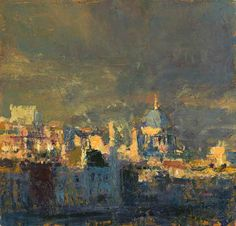 Andrew Gifford-From Southbank Towards the City, study