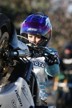 Girls can ride too(: I want a speed bike soo bad.