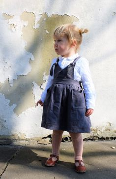 Handmade Linen Pinafore Dress by YouAreSmall on Etsy