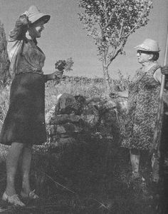 Julia Child and Jeanne Villa from My Life in France; photo by Paul Child. If Julia had been a gardener .....