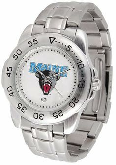 Maine Black Bears- University Of Sport Steel Band - Men's - Men's College Watches by Sports Memorabilia. $50.76.