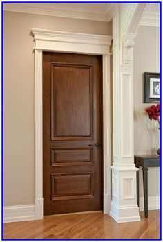 Custom Interior Doors in any style, size or shape. Unique designs, expert craftsmanship, and superior quality hardwoods for supreme customer satisfaction. CUSTOM SOLID WOOD INTERIOR DOORS - Traditional Design Doors by Doors for Builders, Inc. Traditional Interior Doors, Custom Interior Doors, Interior Door Styles, Door Design Interior, Interior Barn Doors, Luxury Interior Design, Traditional Ideas, Craftsman Interior, Craftsman Style