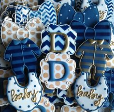 ***Please contact me prior to placing your order to be sure that I have availability for your date.*** **The price posted on this listing is for one dozen (12) beautifully decorated and delicious Baby Boy Bow Tie Baby Shower cookies.** **Please note: there is a minimum order of 2 dozen cookies.**  Colours can be customized. This listing includes:  3 Monograms 3 Bow Ties 3 Bibs 3 Onesies  Delicious Vanilla Bean Sugar Cookie with Vanilla Royal Icing. Each order is baked fresh, which ensures yo...
