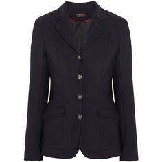 Ariat Platinum stretch-crepe show coat ($165) ❤ liked on Polyvore featuring outerwear, coats, activewear, ariat, athletic, black and ariat coat