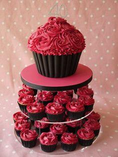 cupcakes large & small Fondant Fantasy Cakes