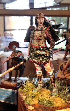 Female Samurai figure by Tomoe Gozen