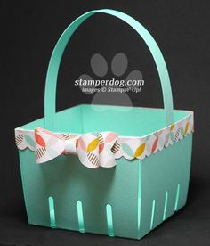 Watch our quick & fun video & learn how to make an Easter basket or gift basket as well as how the new Bow Builder Punch works at http://stamperdog.com