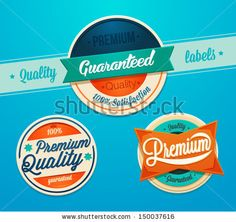 Premium quality badges by best works, via ShutterStock