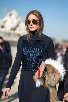 Olivia Palermo in Dior and Westward Leaning sunglasses