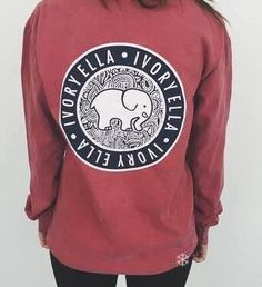 5bb9a291fc7b0e Women s Long-sleeved T-shirt Printed Original Elephant Pattern Sweatshirt