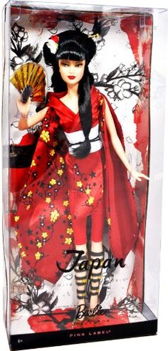 "Barbie Year 2010 Pink Label Collector ""Dolls of the World"" Series 12 Inch Doll – BARBIE in Japanese Kimono  #barbiecollector"