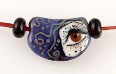 The LOOK bead, artist made glass bead, lampwork bead, eye bead, brown eye, purple glass bead, glass bead, egija straujuma by GlassAfternoon on Etsy https://www.etsy.com/listing/232043368/the-look-bead-artist-made-glass-bead