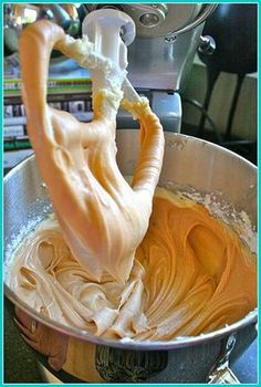 A pin-friend says this salted caramel frosting is the Best frosting she's EVER had... must try!