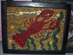 JEM Bead Art. Art made of reused Mardi Gras beads